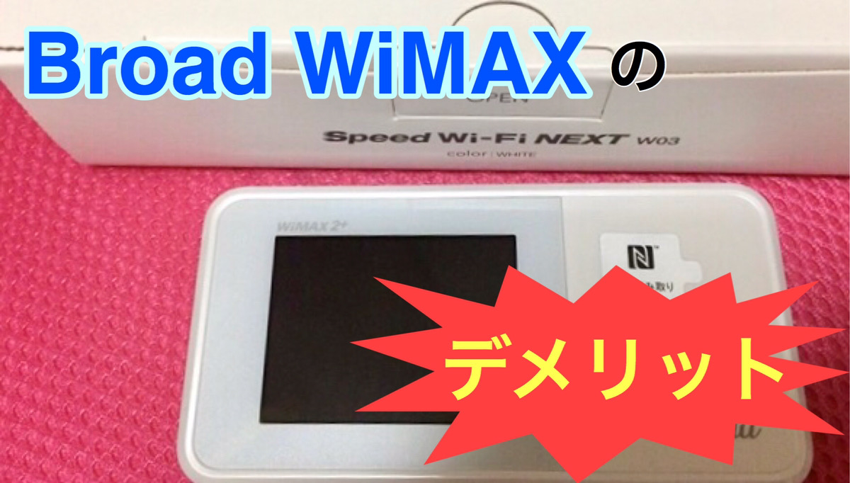 Broad WiMAXのデメリット